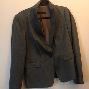 Zara gray blazer with blue stripe xL